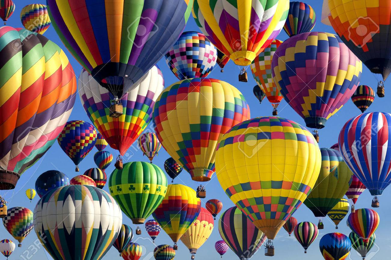 - The Mass Ascension Launch Of Over 100 Colorful Hot Air Balloons