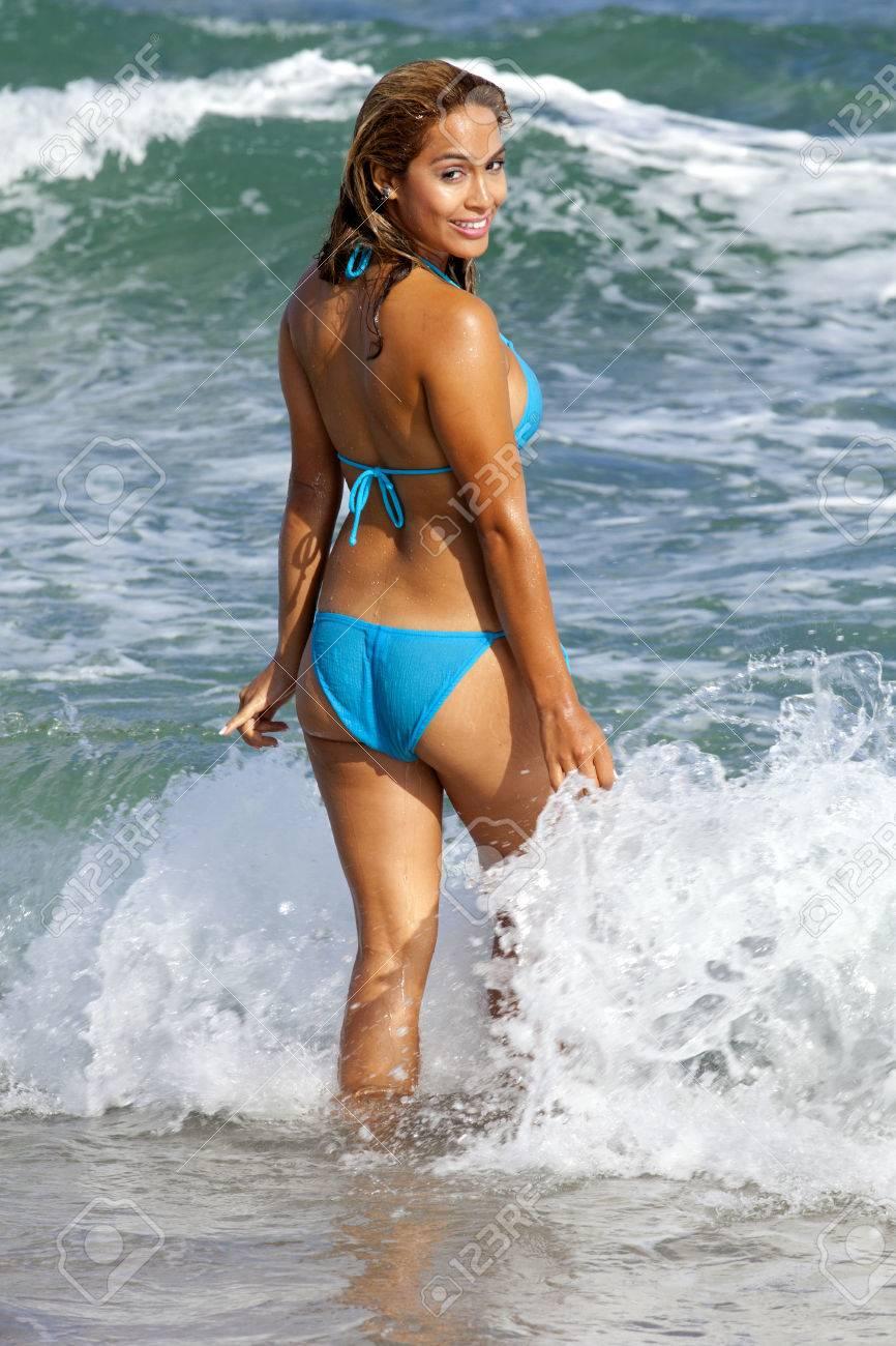 Océano Bonita En Atractivo El Bikini Juego Azul Mujer Claro 67gbfy