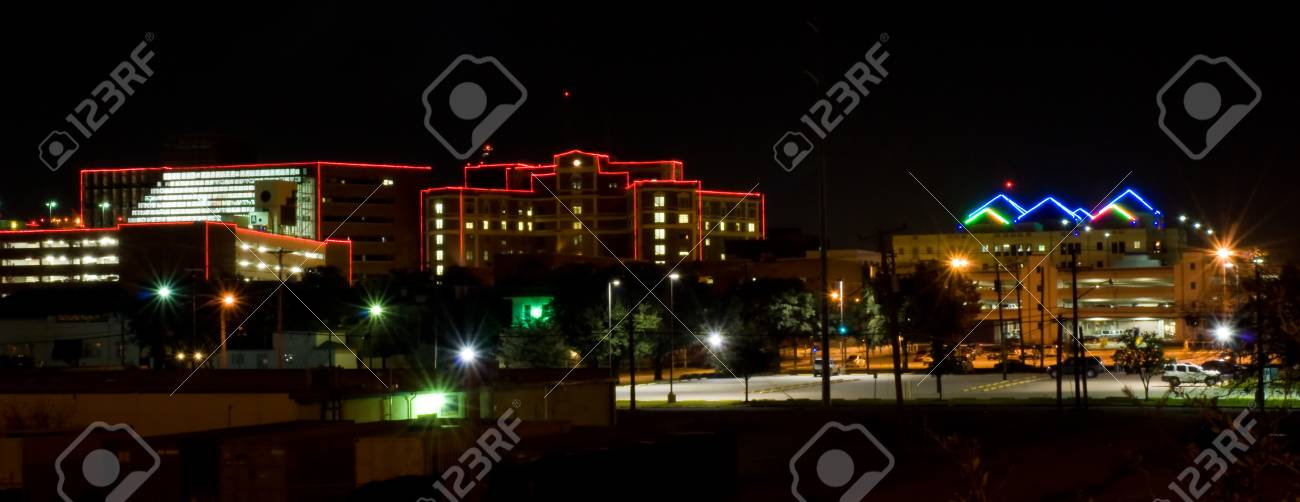 Hospital District In Ft Worth Texas Stock Photo   77576336
