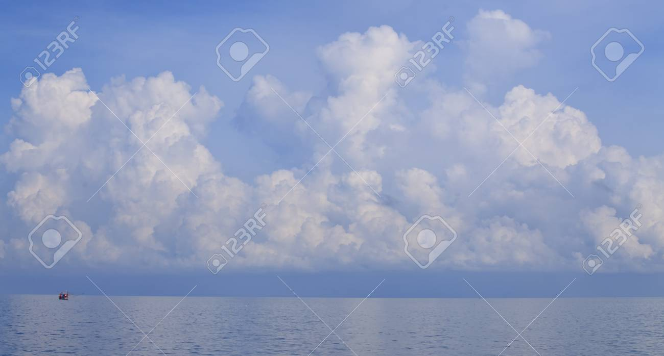 Big cloud on the ocean before Typhoon will destroy the boat. Stock Photo - 13246278