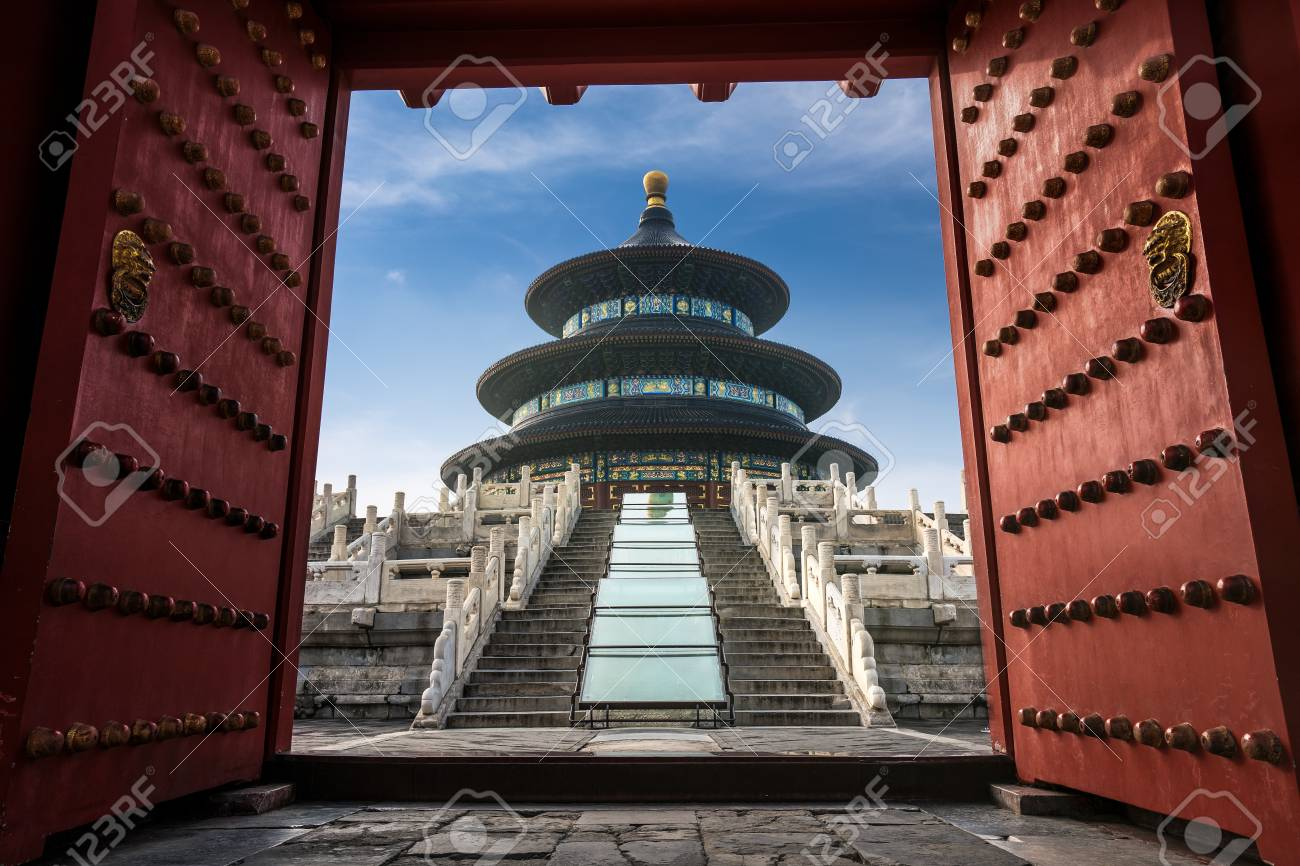 Temple Of Heaven In The Forbidden Palacein In Beijingchinese