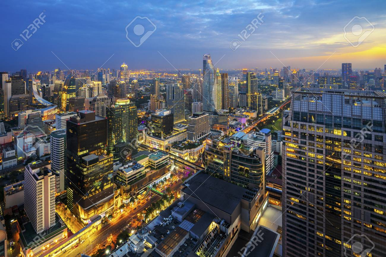 Building in Ratchaprasong and Sukhumvit area is center of business,