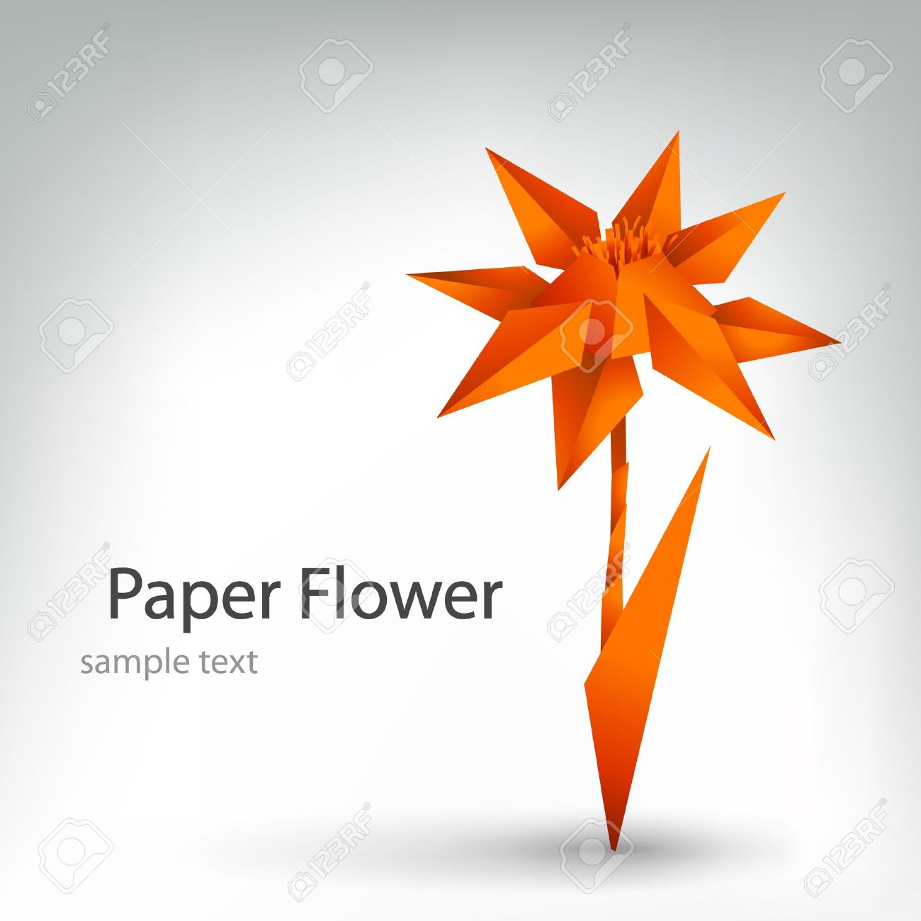 Origami flower royalty free cliparts vectors and stock origami flower stock vector 9842045 mightylinksfo