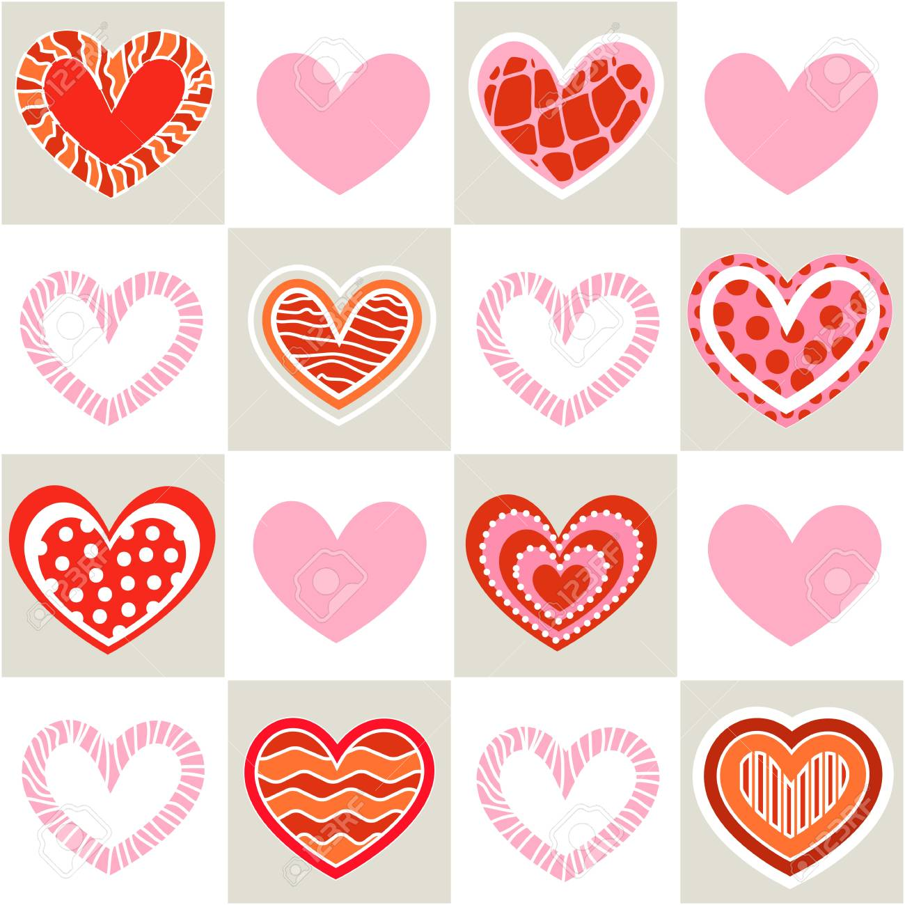 Seamless valentine pattern Stock Vector - 10495728