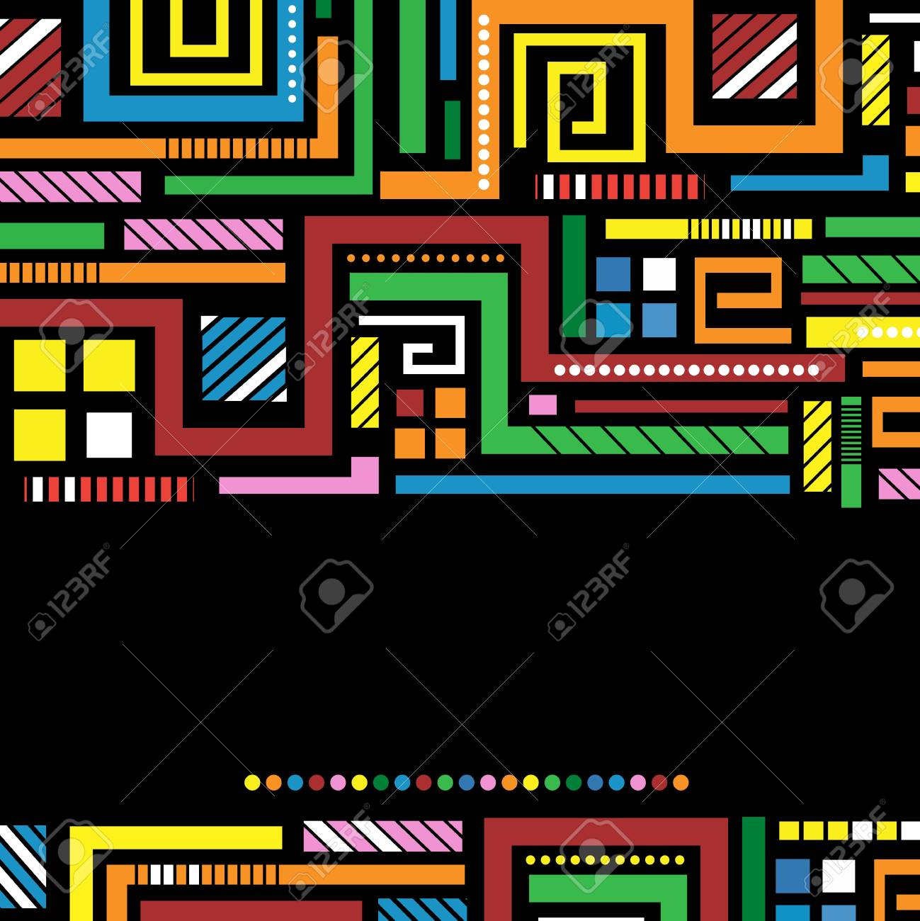 dark background with bright colored lines Stock Vector - 10495712