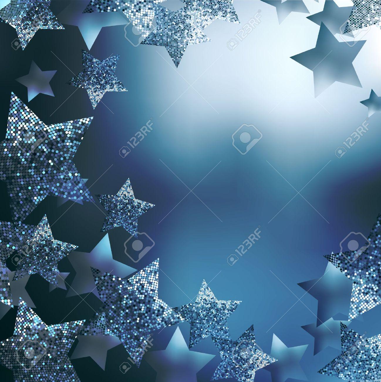 Christmas stars background Stock Vector - 10495896
