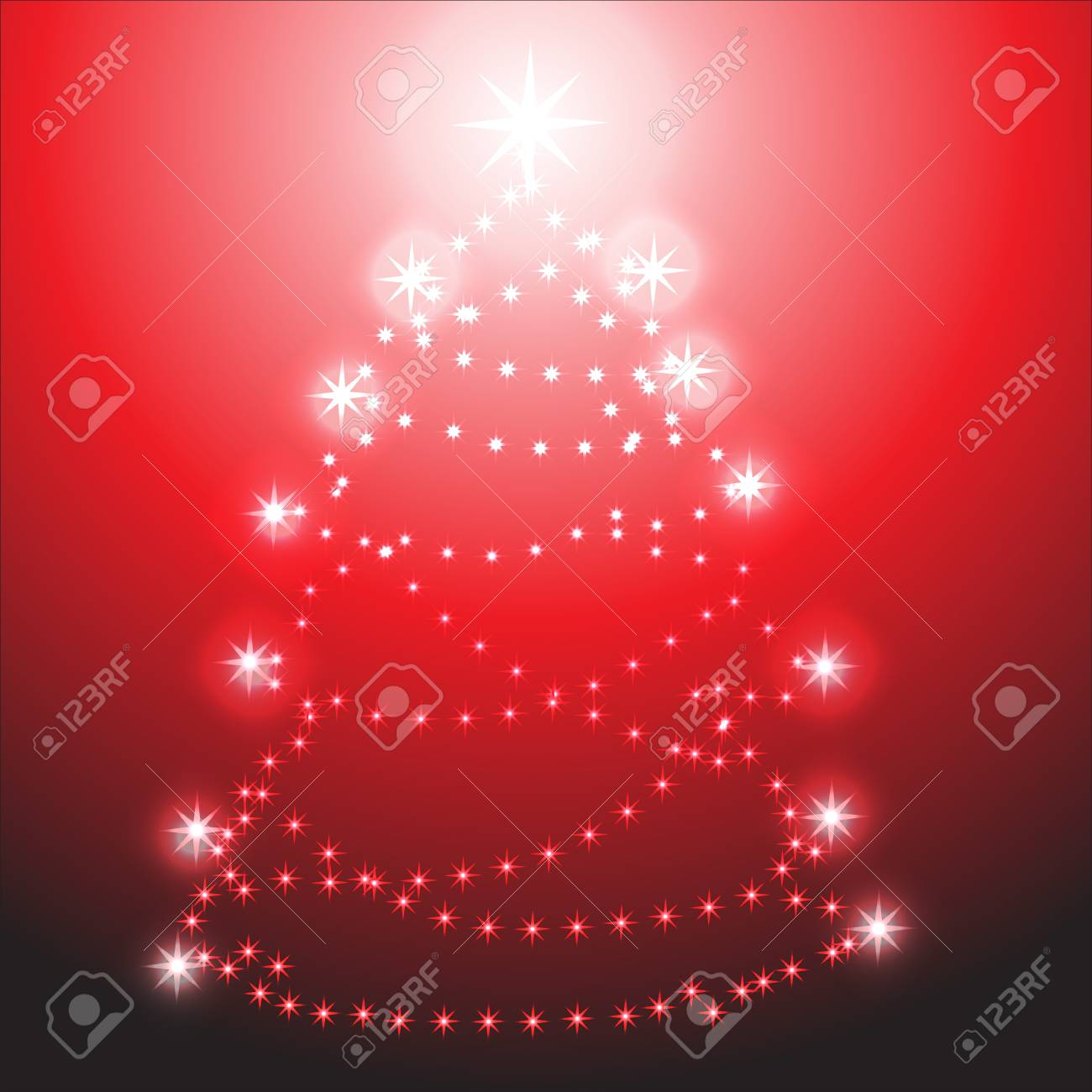 Christmas tree on red background Stock Vector - 10648412