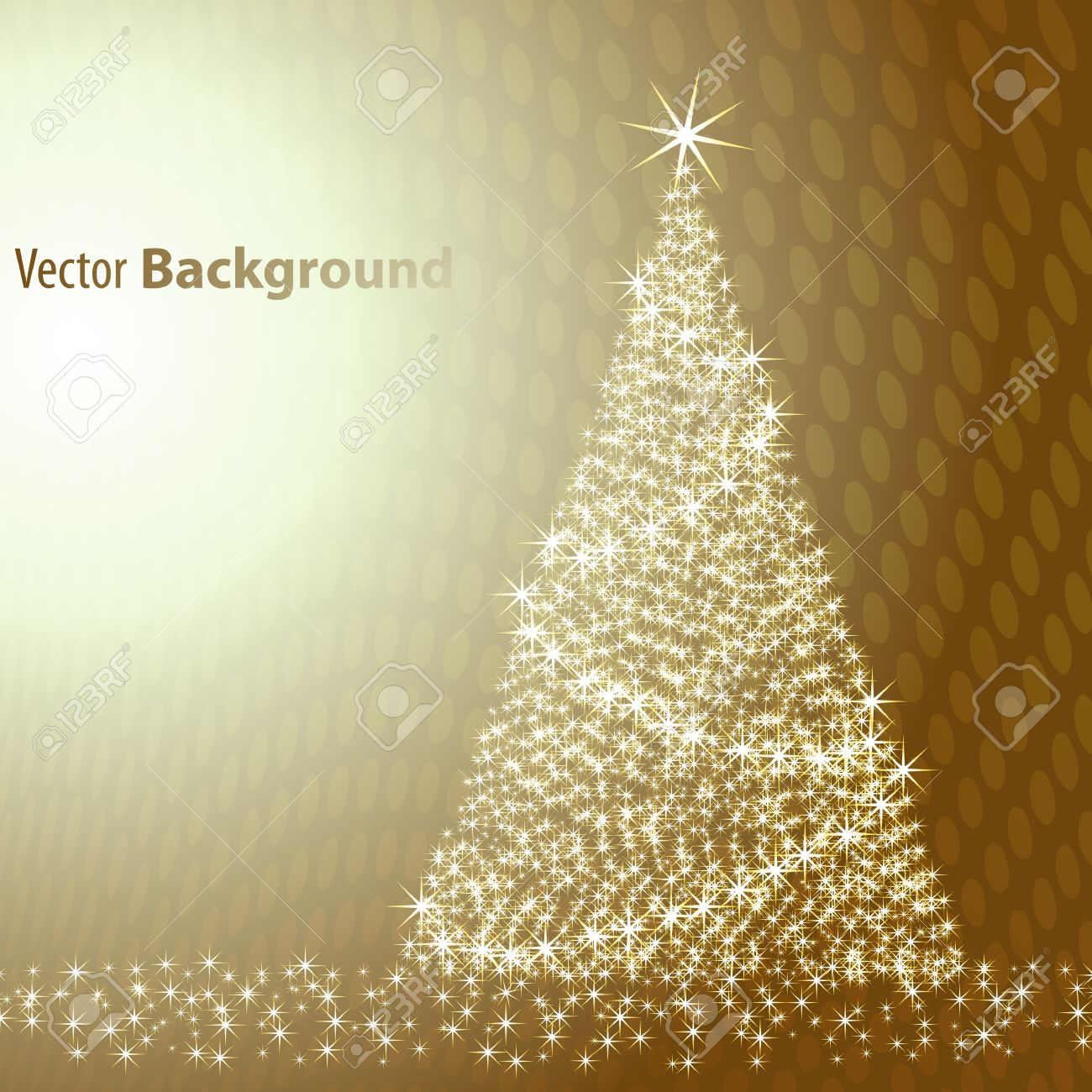 Christmas tree on brown background Stock Vector - 10648632