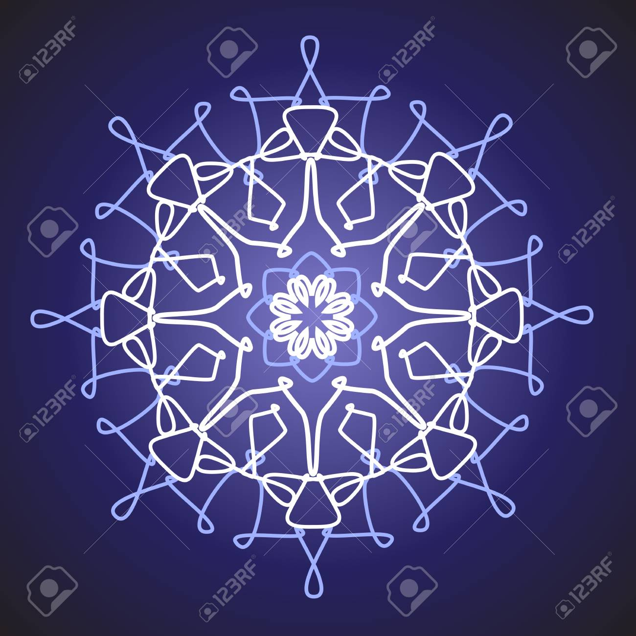 white snowflake on a blue background Stock Vector - 10648597