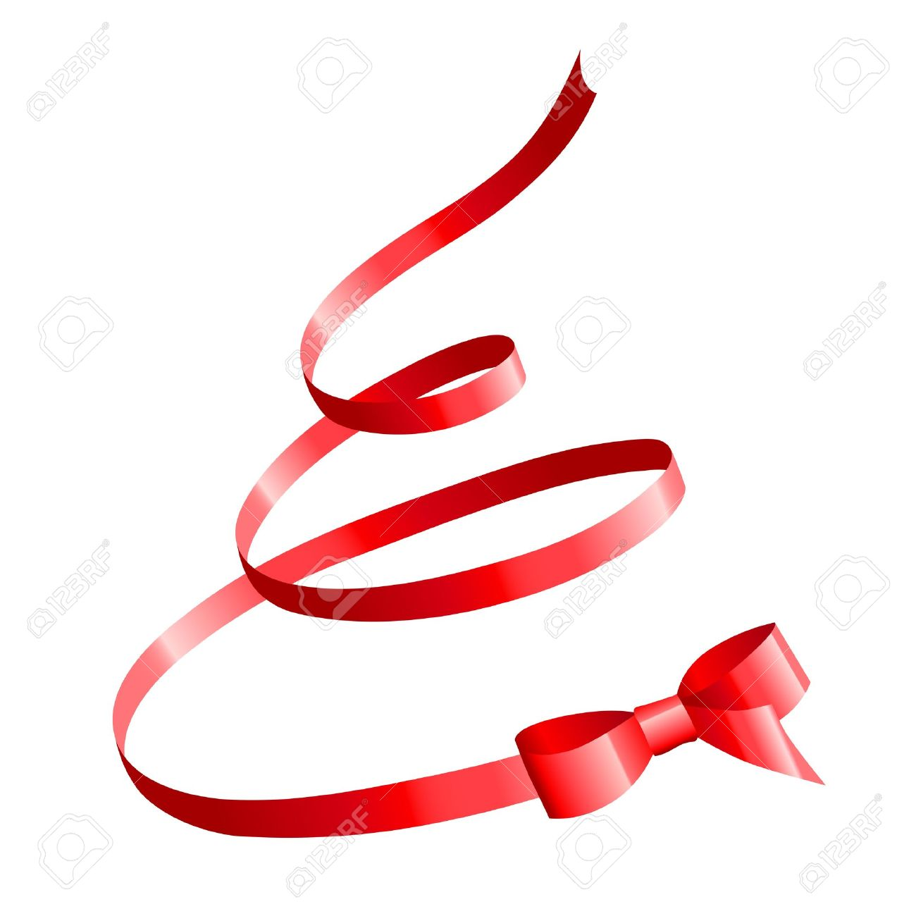 red satin bow in the shape of Christmas tree Stock Vector - 11564329