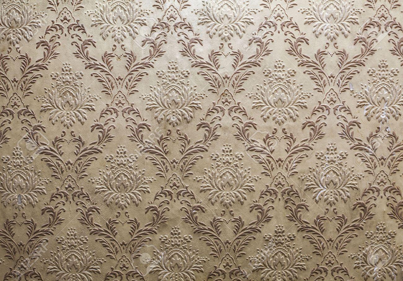 Vieux Papier Peint Rétro Pour Votre Design Banque D'Images Et