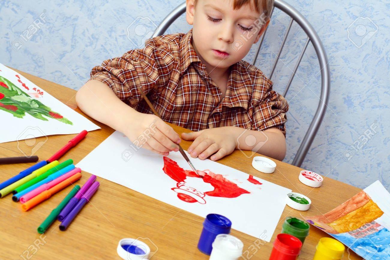 Краски мальчик с открытке 53