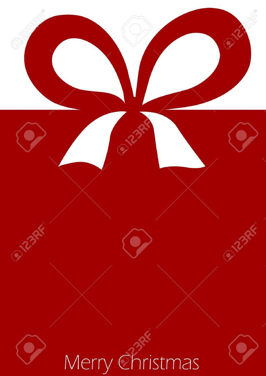 Present with red ribbon bow Stock Vector - 15701424