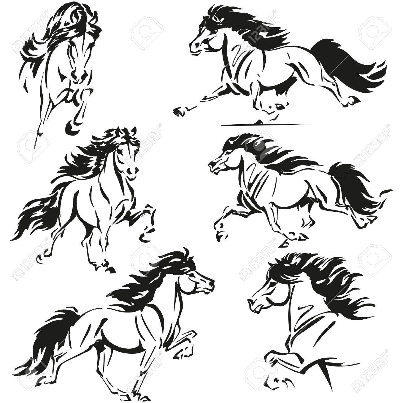 Icelandic Horse Themes Royalty Free Cliparts, Vectors, And Stock ...
