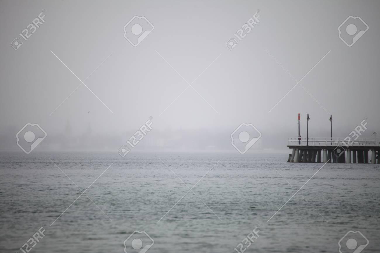 autumn baltic sea pier in Orlowo, Gdynia Poland Stock Photo - 11706440