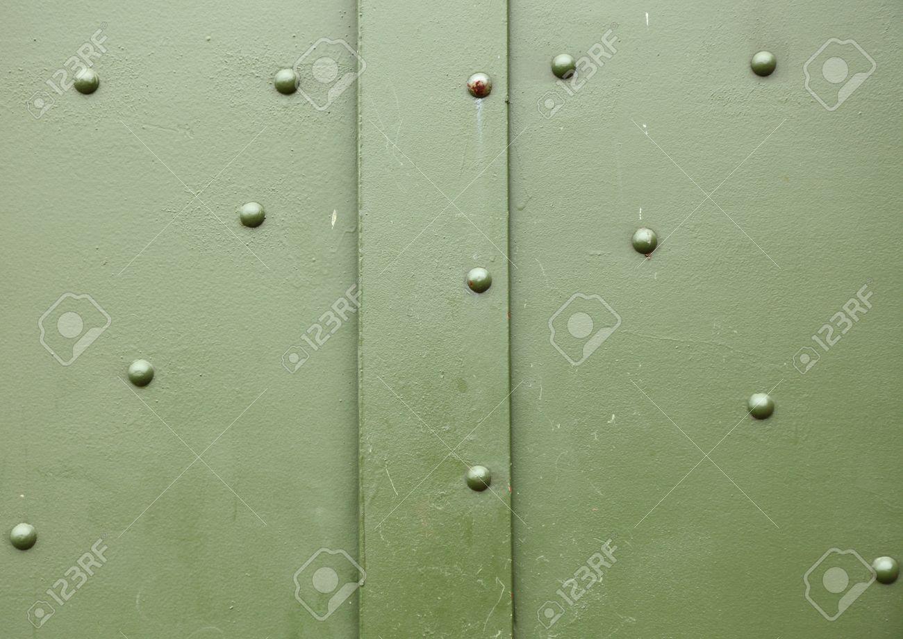 old metal background texture pattern door screw Stock Photo - 12663558