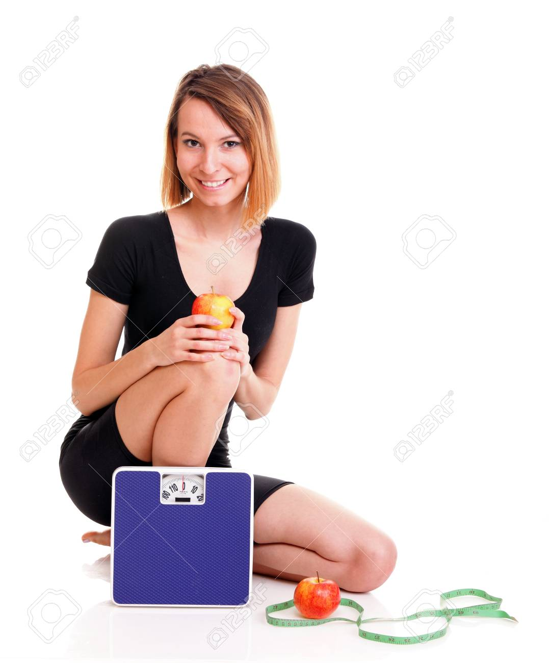 Portrait of young and healthy woman as dieting concept Stock Photo - 17391059