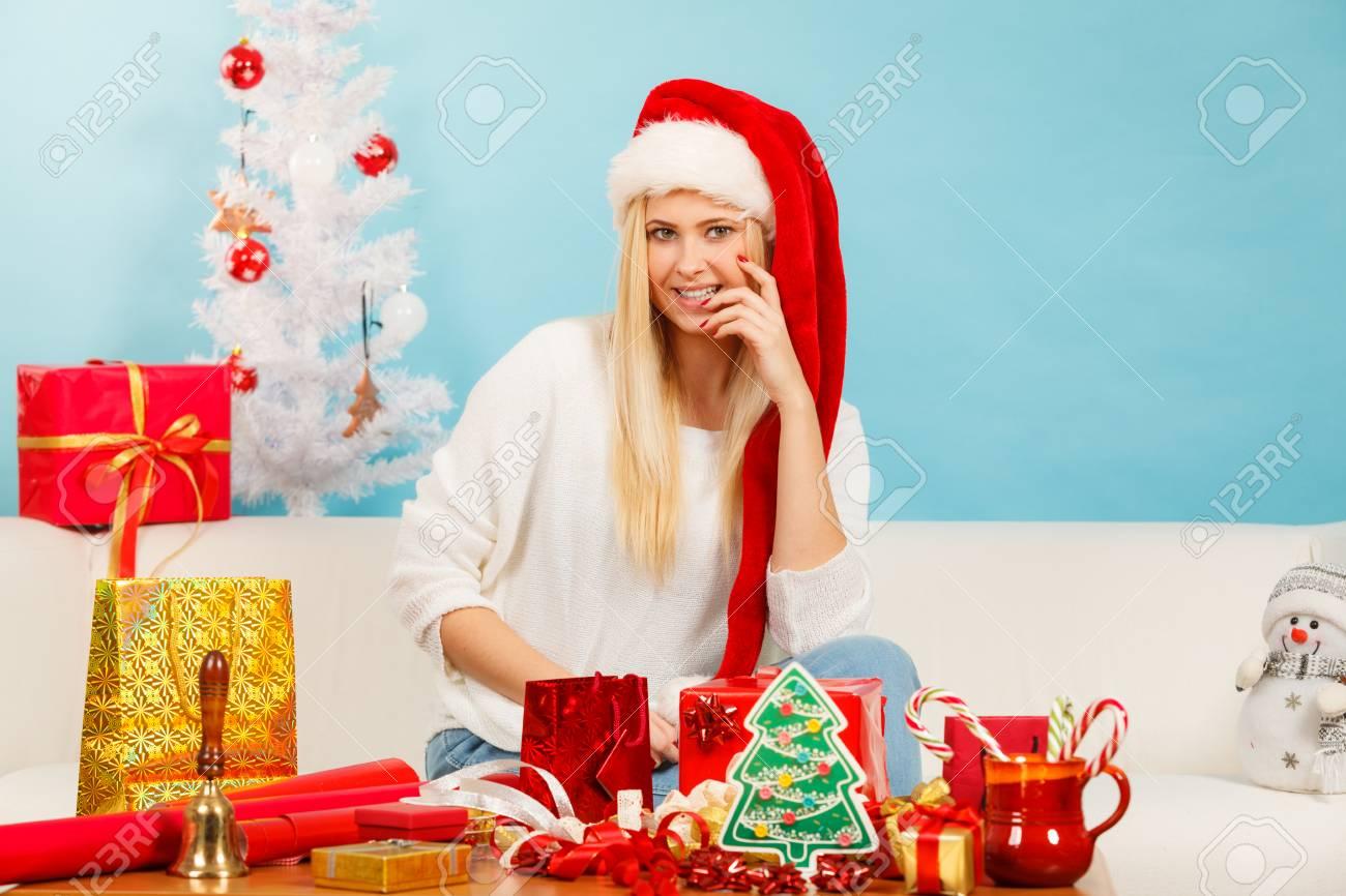 blonde-girl-santa-claus
