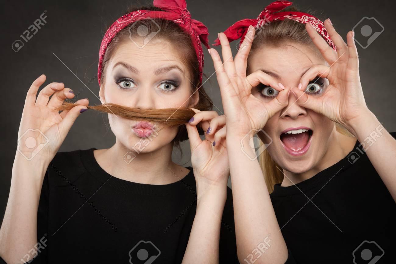 Women showing fanny