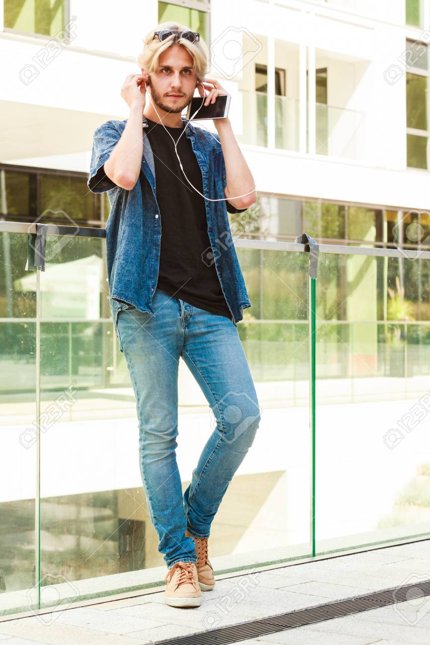 Men Fashion Technology Urban Style Clothing Concept Hipster