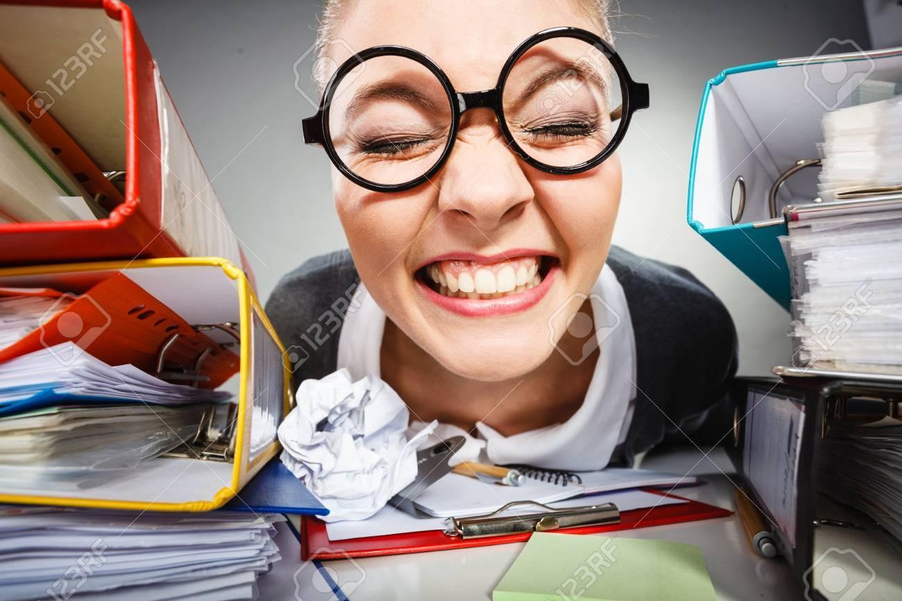 Workaholism Mental Insanity Weird Job Work Company Concept Insane
