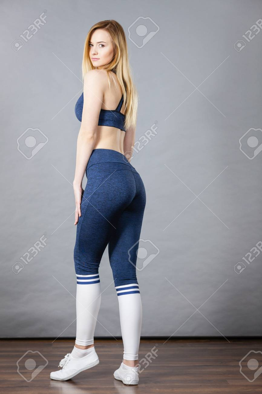 Woman Wearing Sporty Workout Outfit