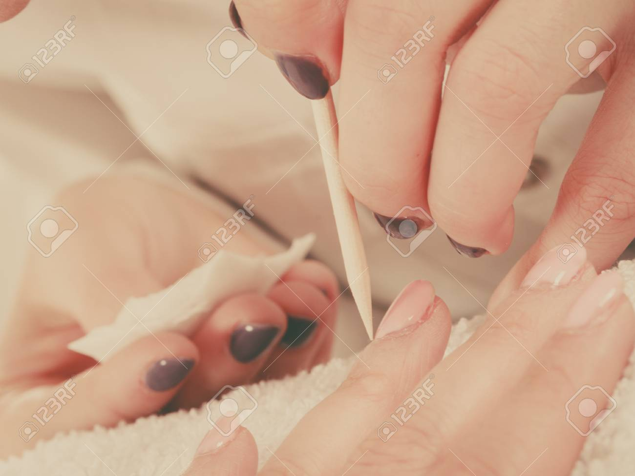 Nail Care, Beauty Wellness Spa Treatment Concept. Woman Beautician ...