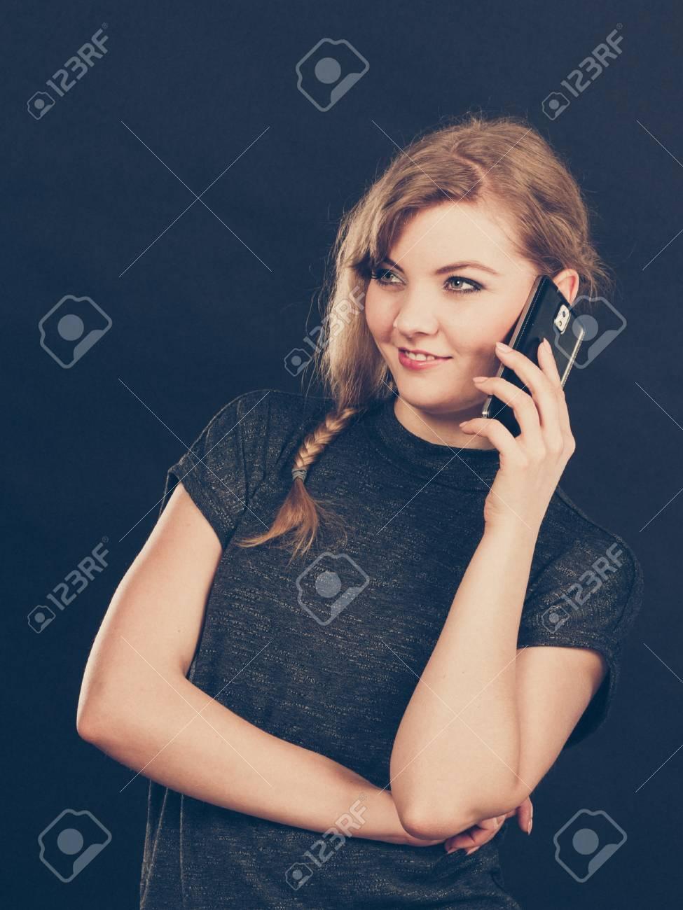Flirt and romance  Begin of relatinship  Attractive blonde woman