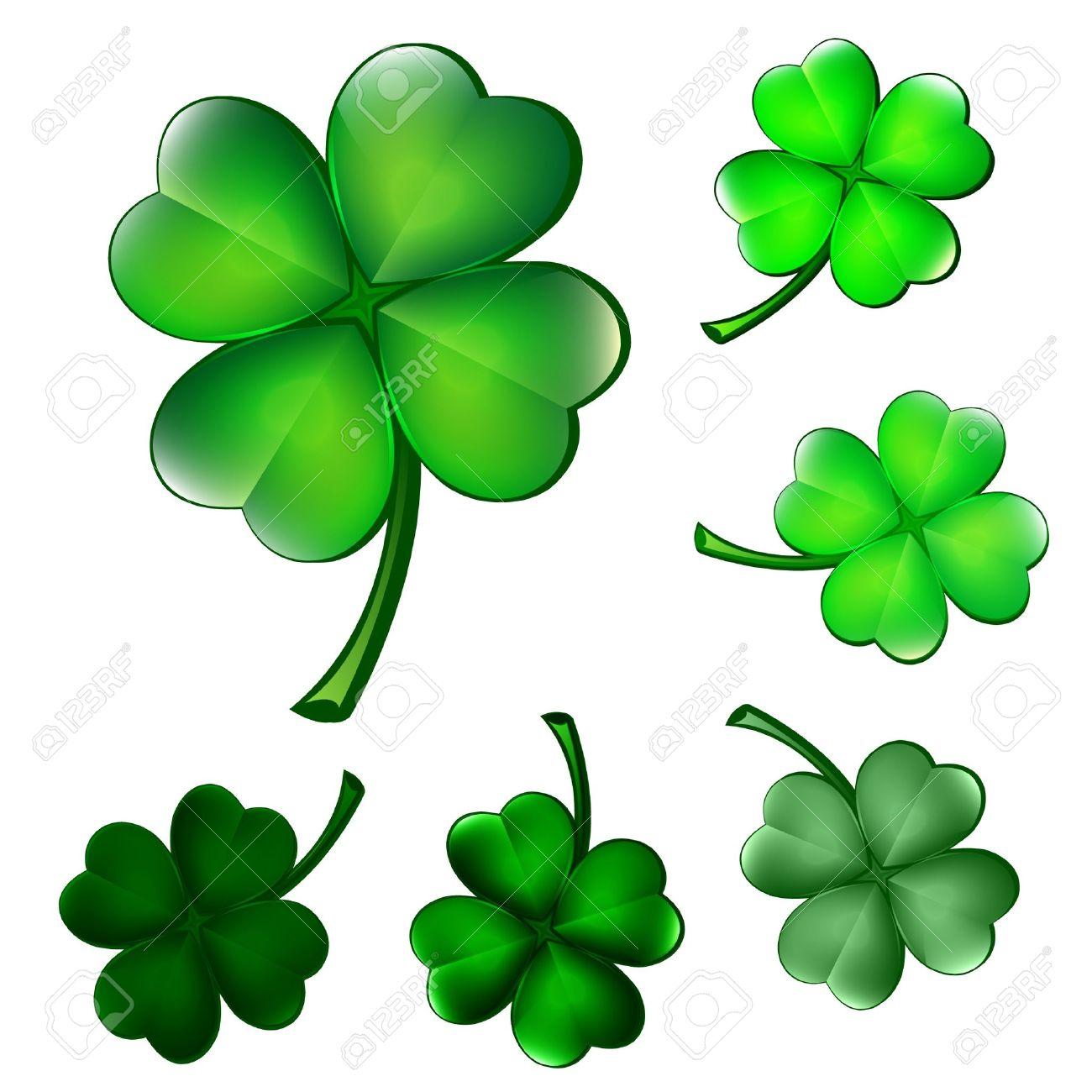 Four-leaf clover illustration Stock Vector - 15470549