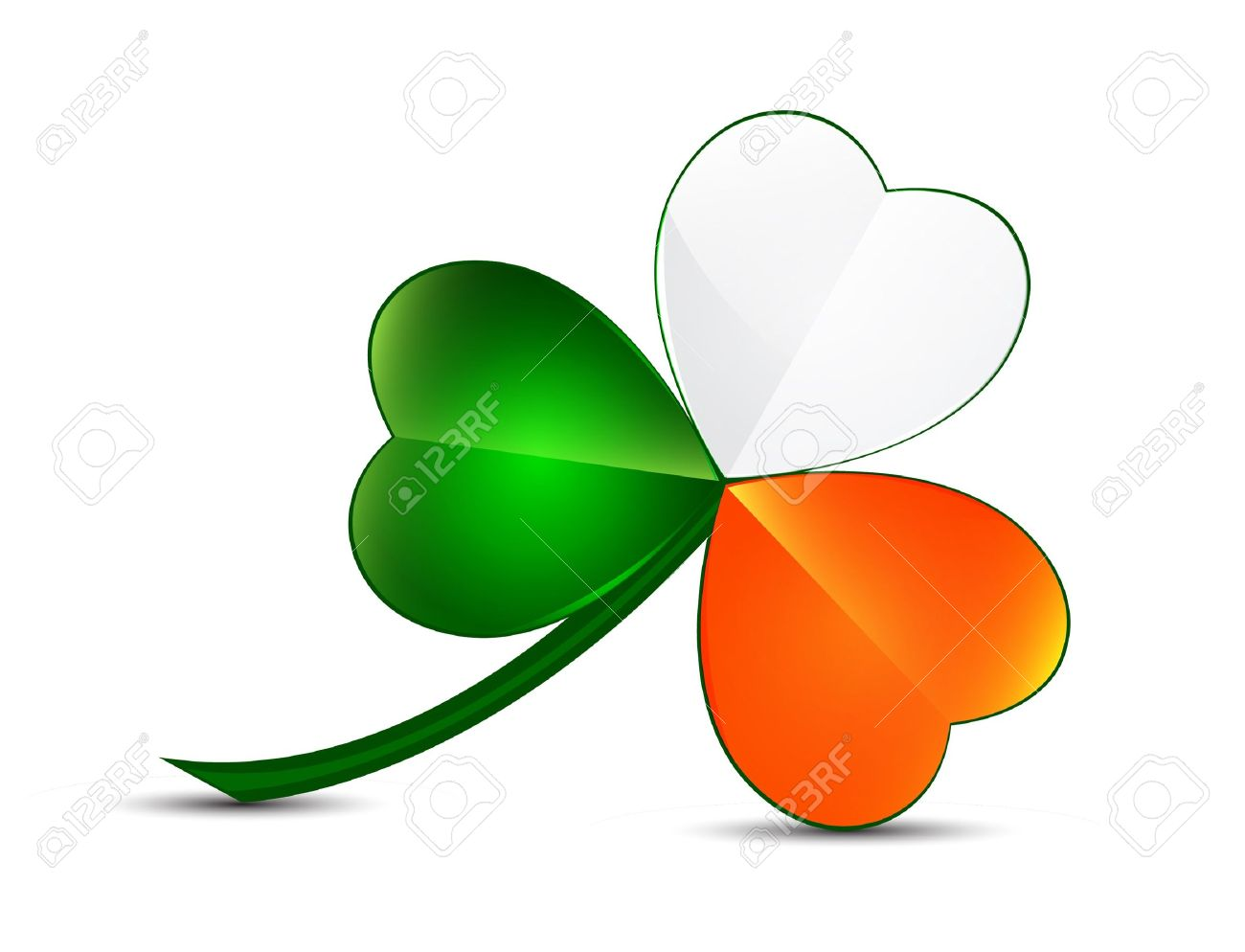 Three Leaf Clover From Ireland Colors Royalty Free Cliparts Vectors