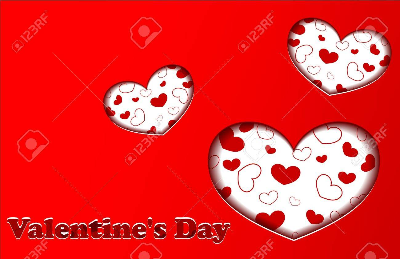Red Valentines day card Stock Vector - 17510133