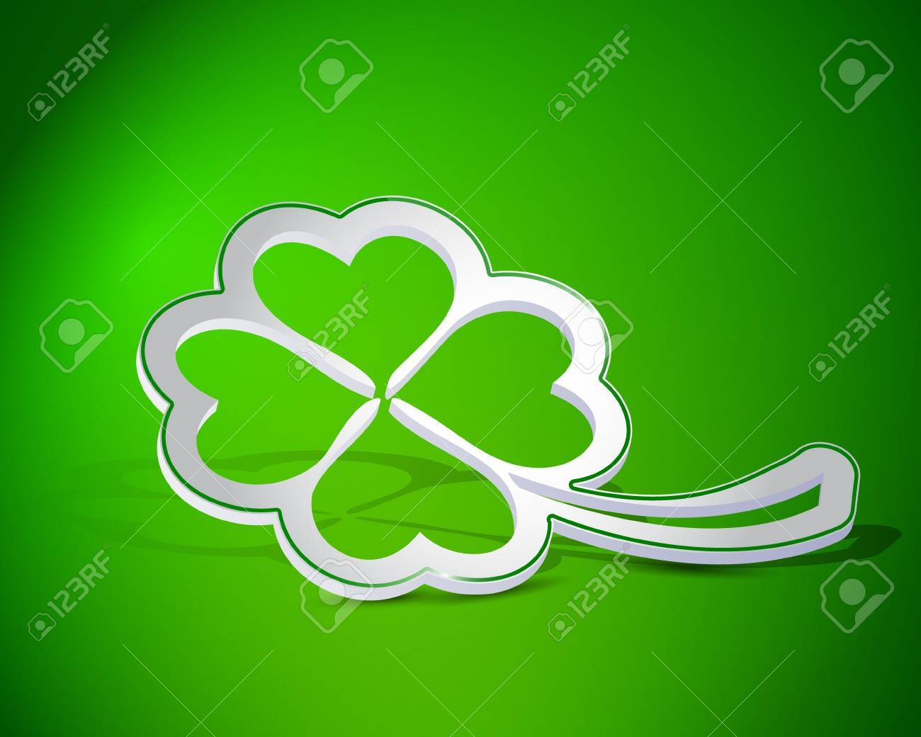 Four leaf clover shape from paper Stock Vector - 17885407
