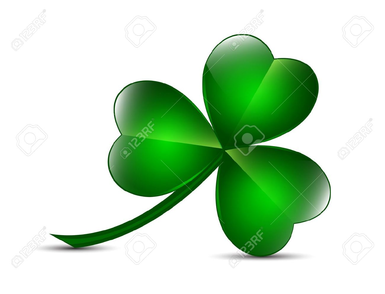 Three Leaf Clover Royalty Free Cliparts Vectors And Stock