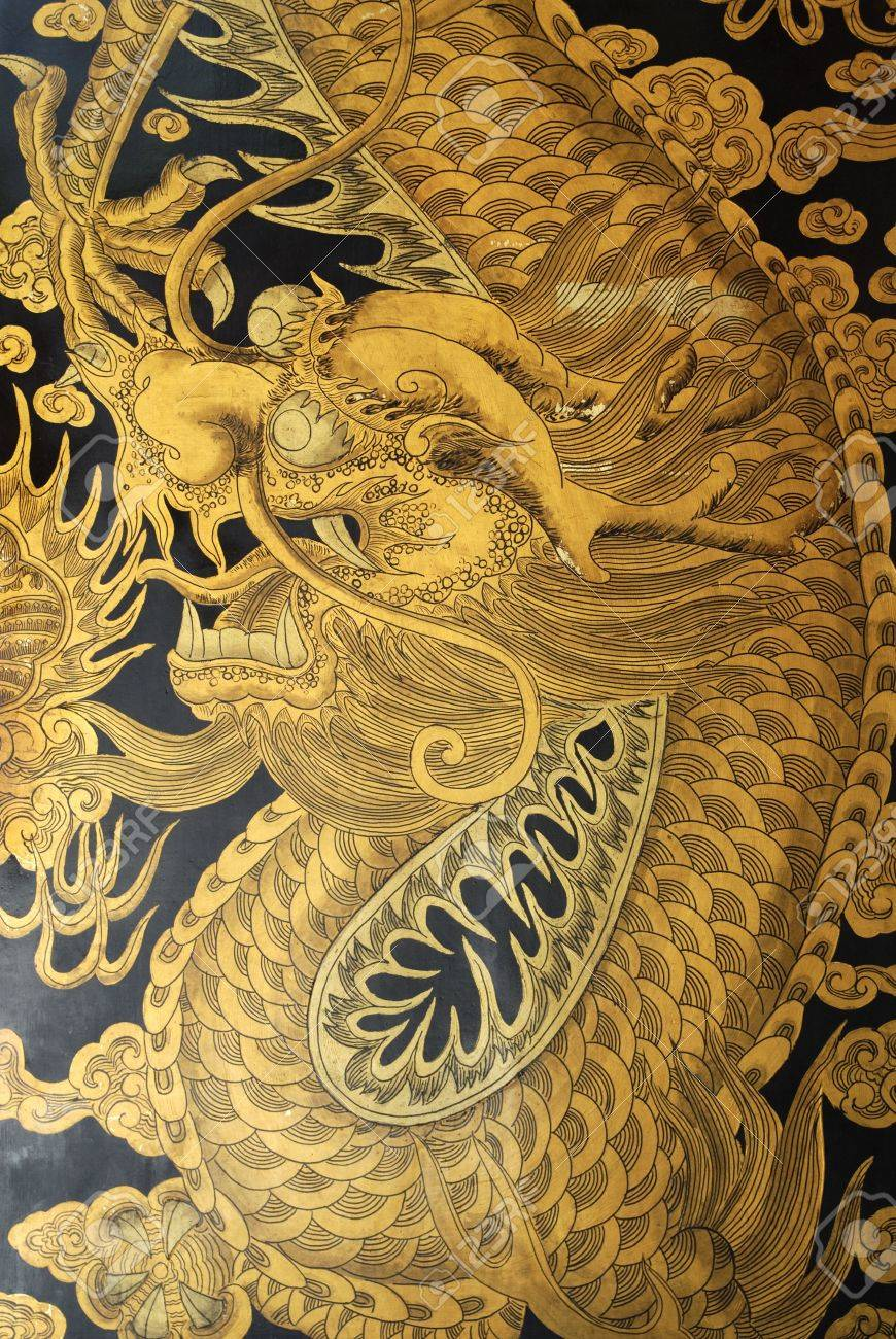 Golden Dragon on the doors of Thian Hock Keng. Thian Hock Keng is one of & Golden Dragon On The Doors Of Thian Hock Keng. Thian Hock Keng ...