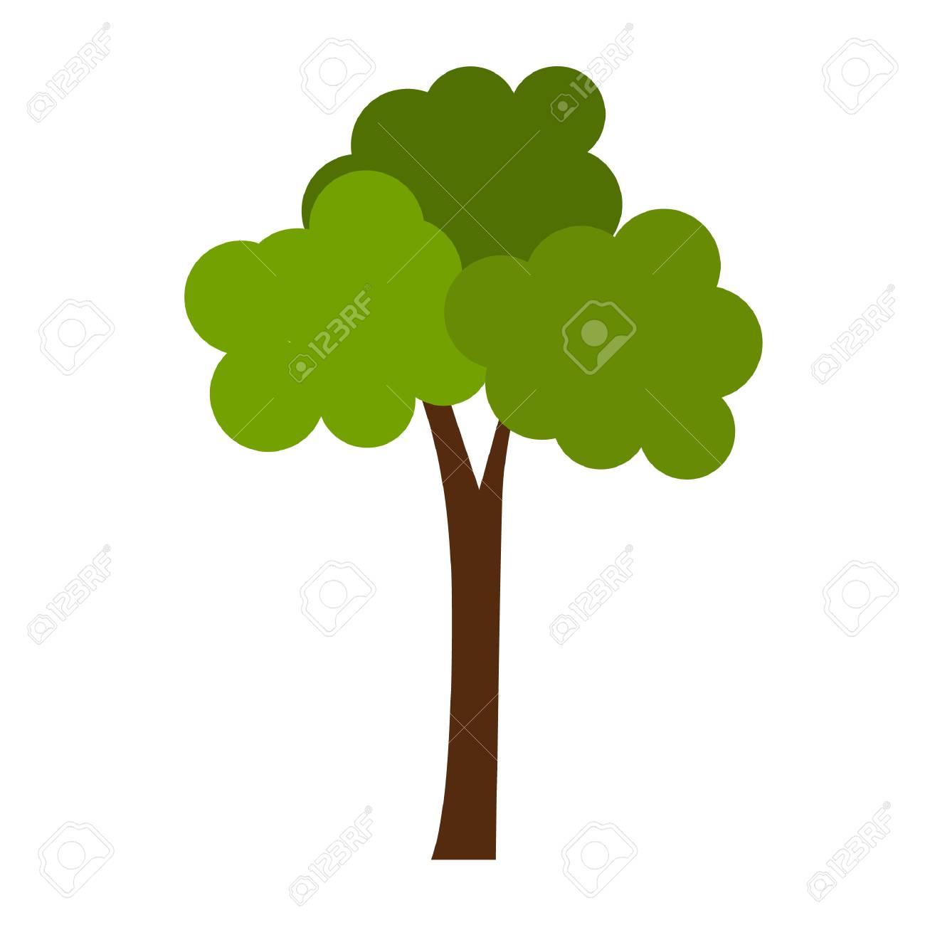 Simple Flat Color Tree Icon Vector Royalty Free Cliparts, Vectors ...