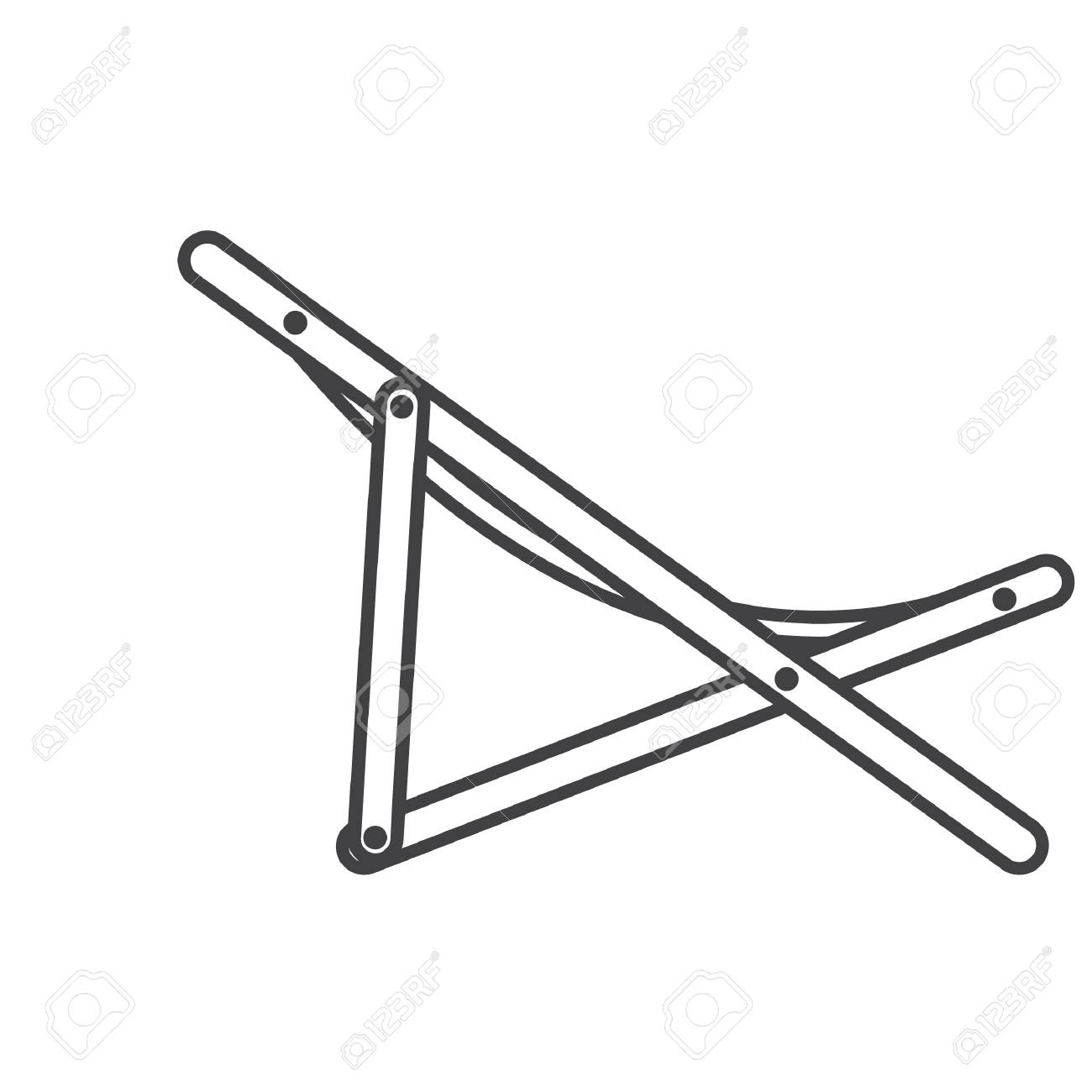 Simple Thin Line Beach Chair Icon Vector Royalty Free Cliparts Vectors And Stock Illustration Image 92157572