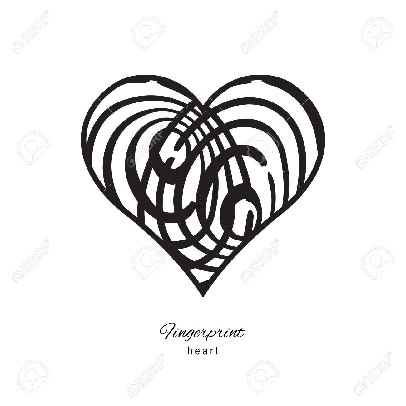 Genial Bild Fingerabdruck Sammlung Von Fingerabdruck-herz-symbol Auf Weißem Hintergrund Standard-bild - 62786961