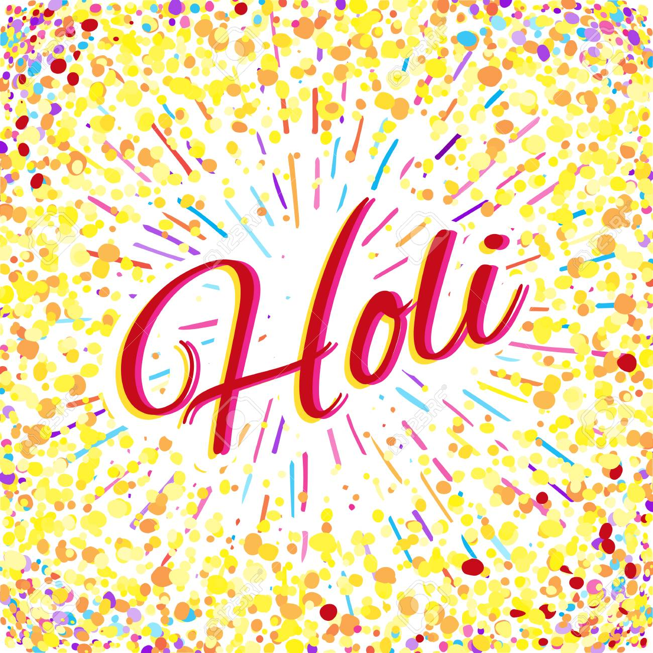 Greeting card for happy holi spring festival with sample text greeting card for happy holi spring festival with sample text llustration of colorful gulaal or m4hsunfo Images