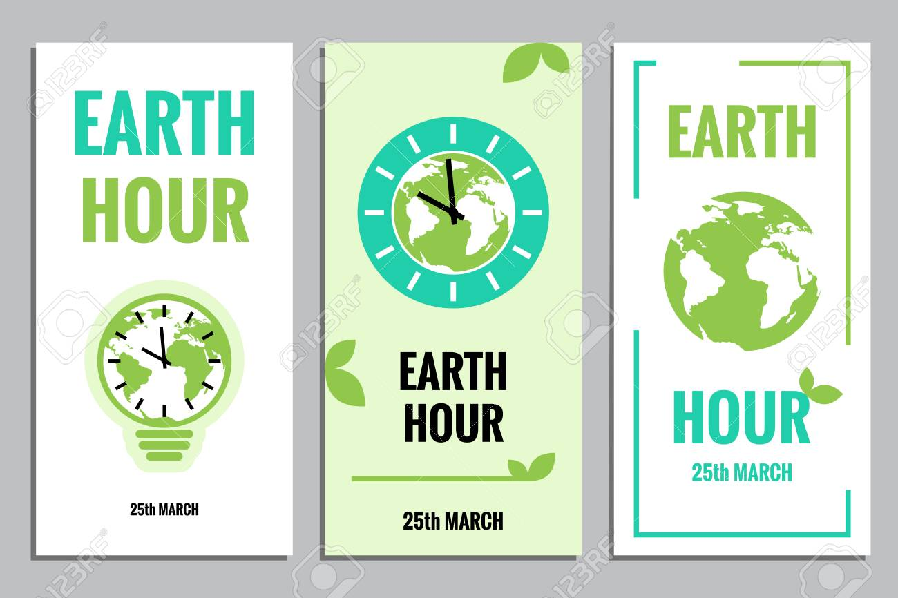 Vector template of earth hour or daylight saving time with world vector template of earth hour or daylight saving time with world map lamp and clocks gumiabroncs Choice Image
