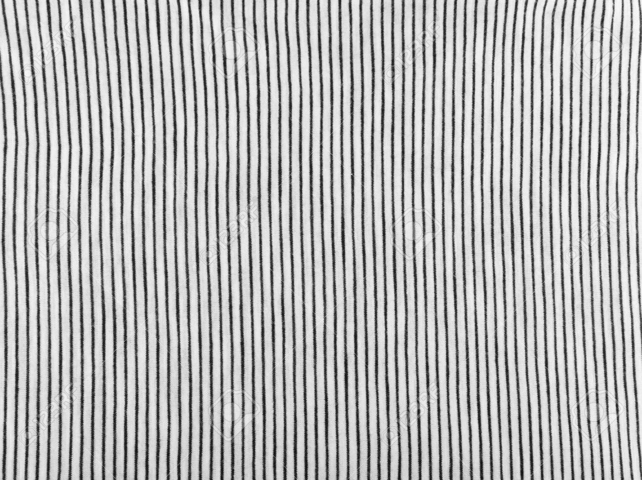 Striped Cotton Fabric Background Black And White Textile Pattern