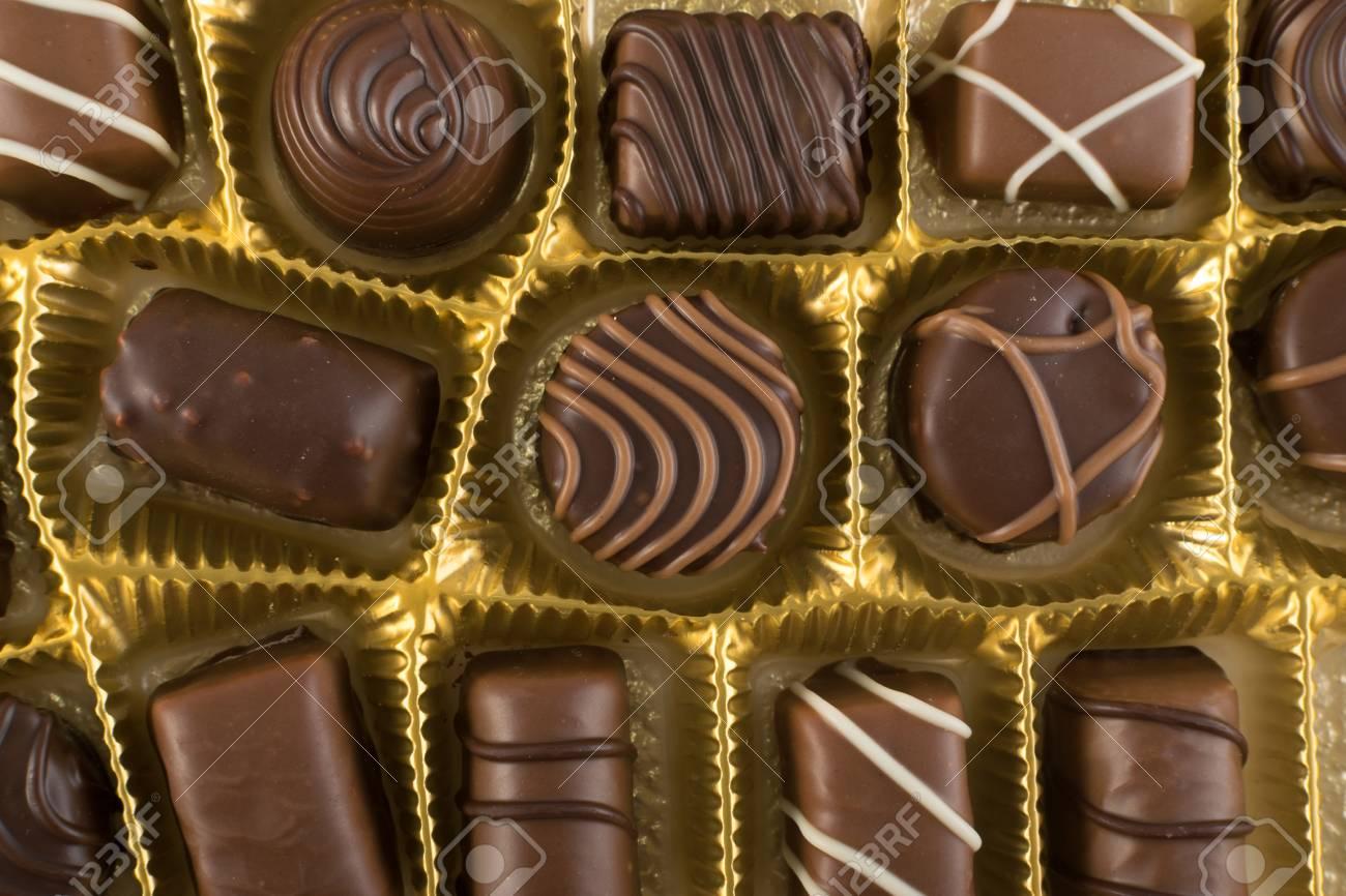 Beautiful Chocolates Candies Background Chocolate Wallpaper Stock