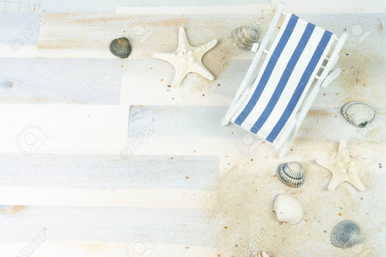Super Maritime Background With Sand Shells And A Blue And White Striped Caraccident5 Cool Chair Designs And Ideas Caraccident5Info