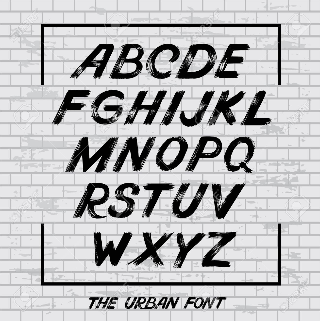 Hand lettering sketch font vector alphabet grunge letters and hand lettering sketch font vector alphabet grunge letters and numbers vector handwritten urban altavistaventures Choice Image