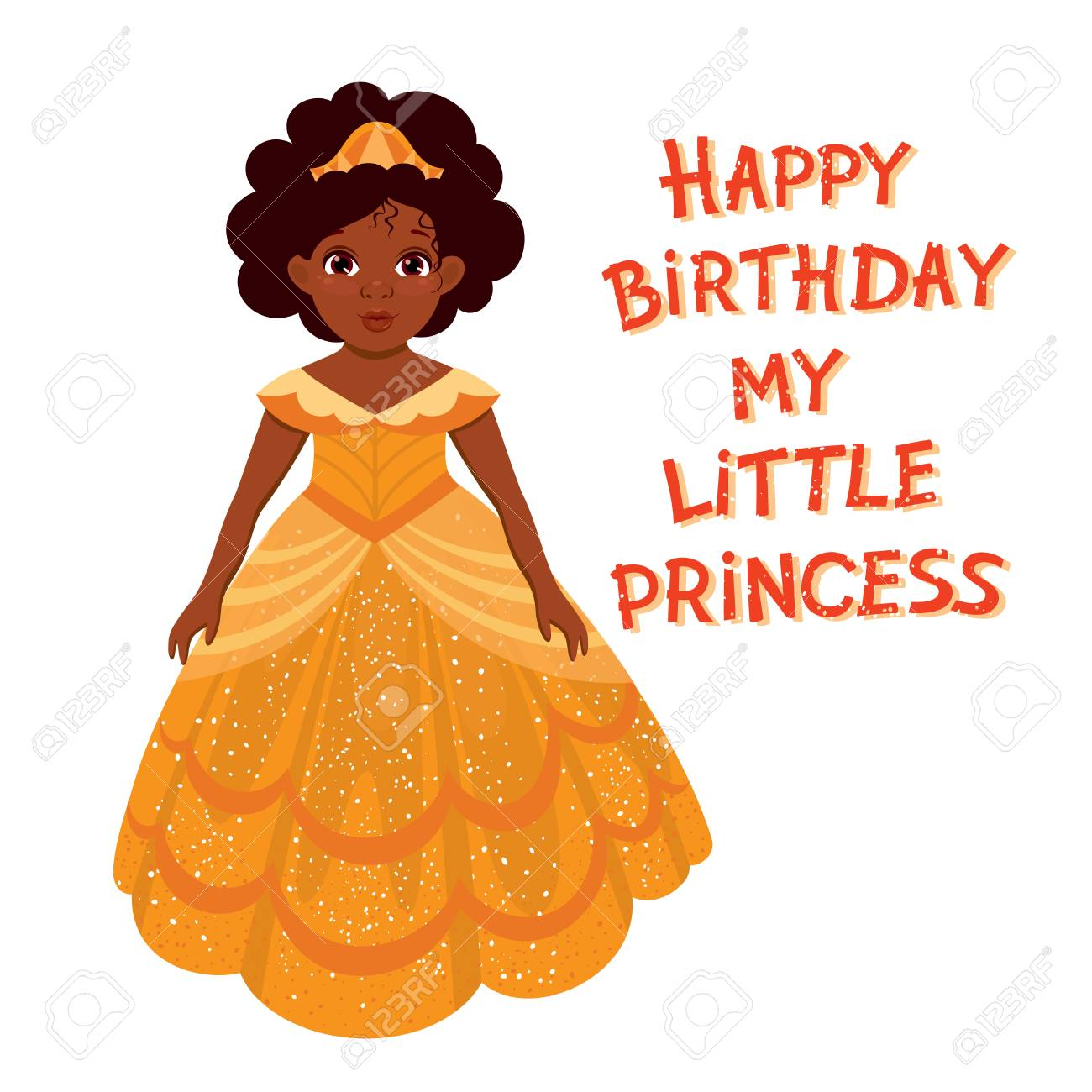 Happy birthday cute fairy girl with dark skin greeting card happy birthday cute fairy girl with dark skin greeting card with colorful balloon and hand kristyandbryce Images