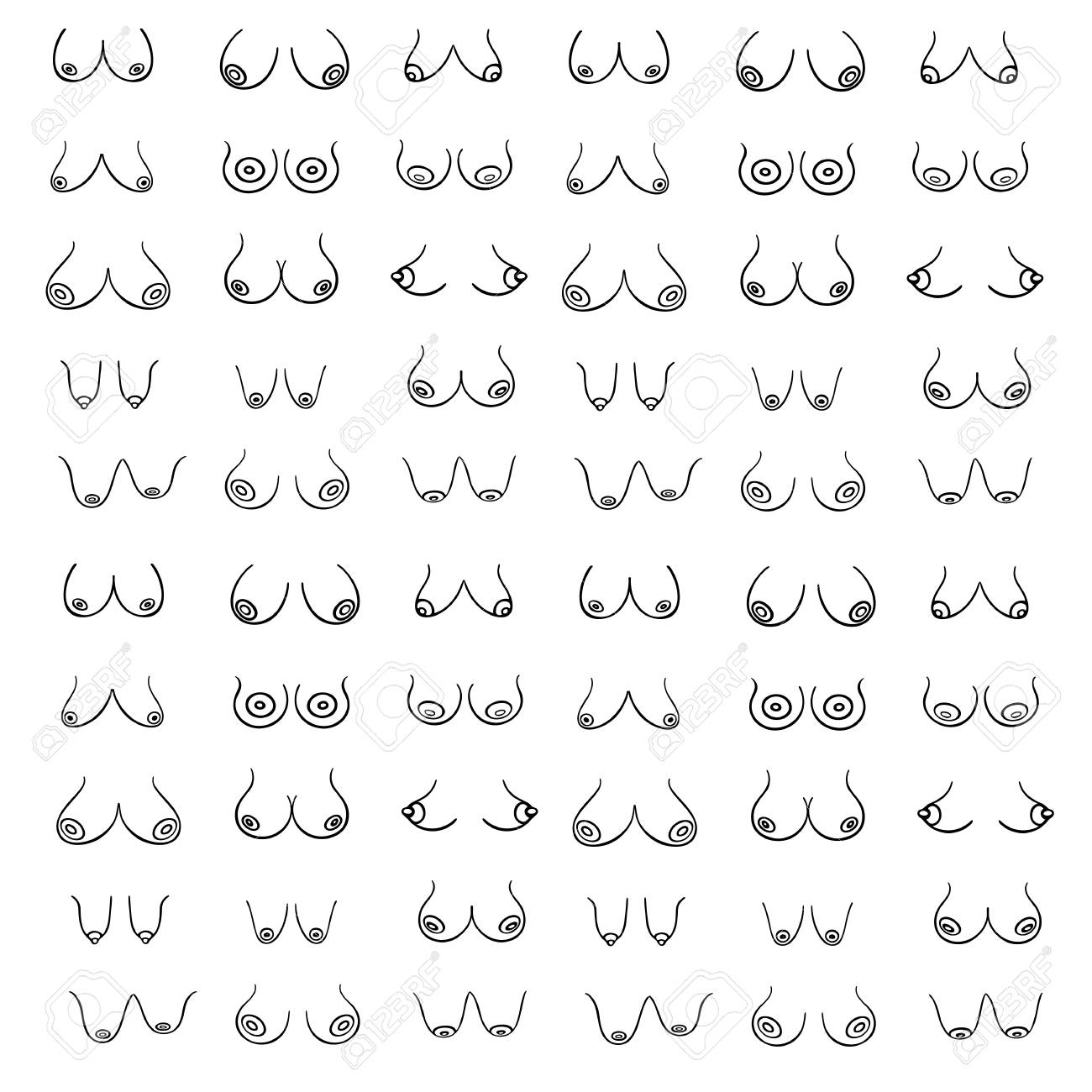 Different style of breast