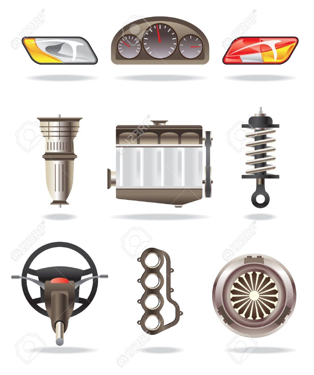 Car parts - vector illustration Stock Vector - 10456422