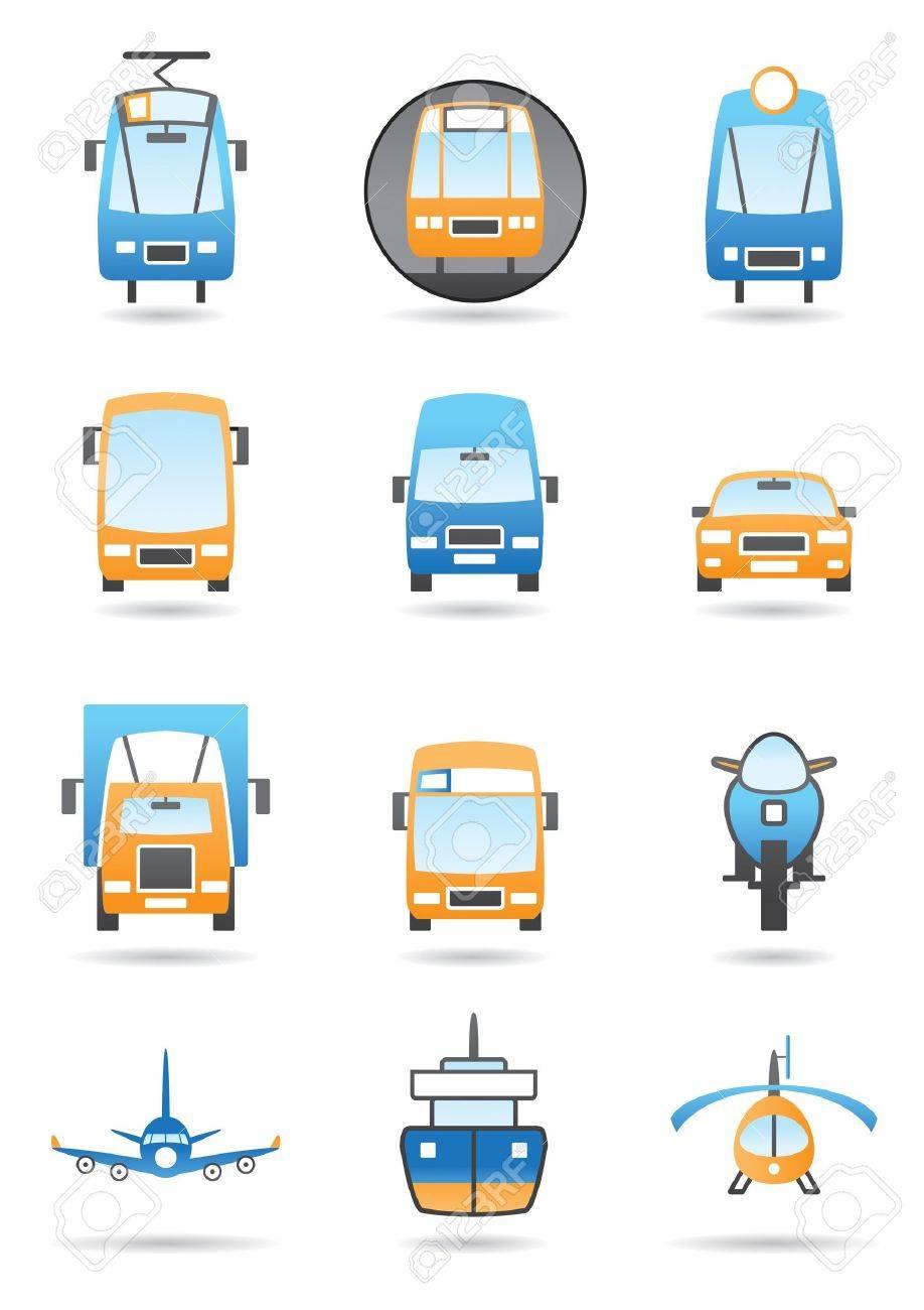 Transportation vector icon set Stock Vector - 10456424