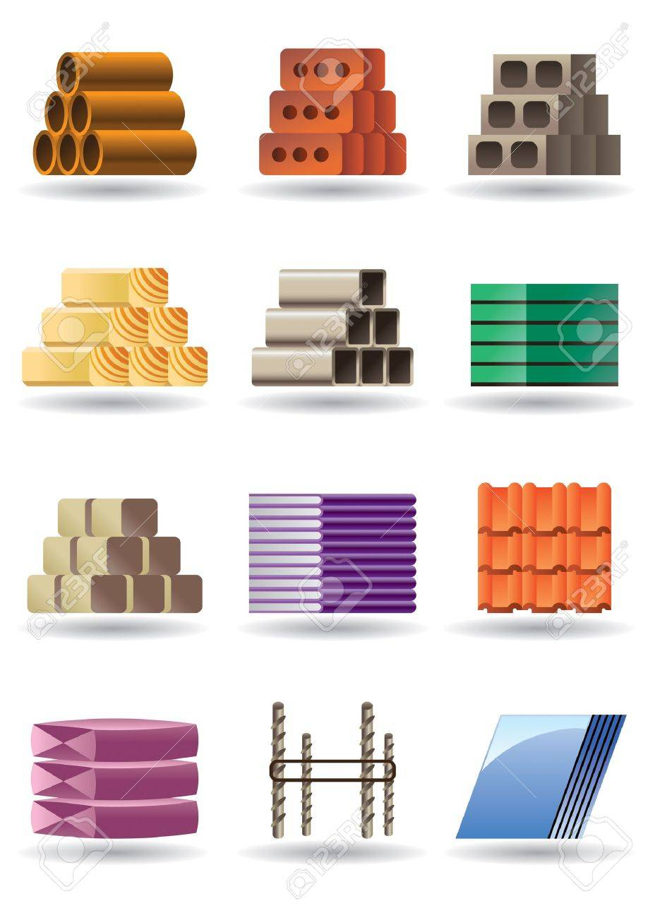 Building and constructions materials Stock Vector - 12480912
