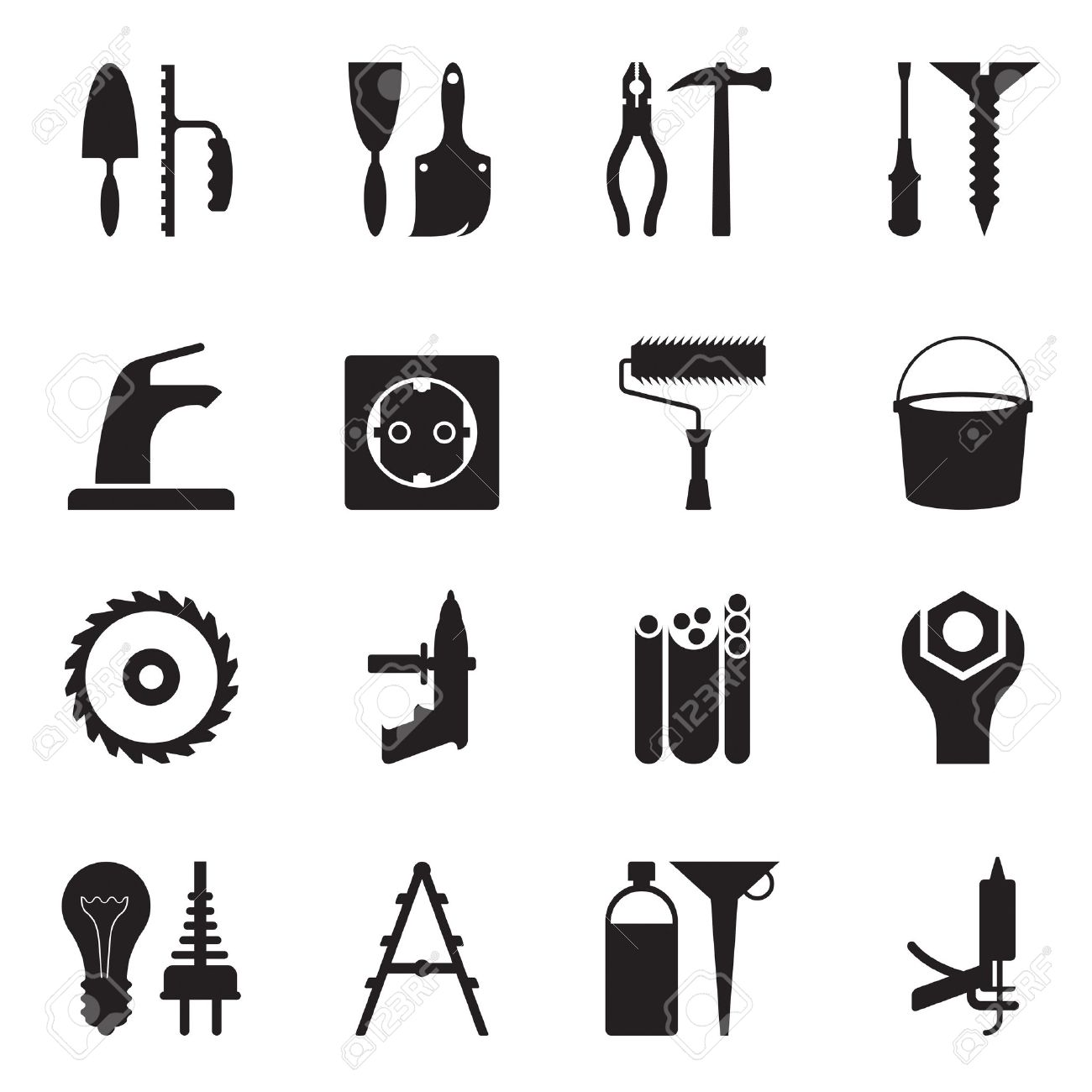 Tools and equipment for construction Stock Vector - 13312452