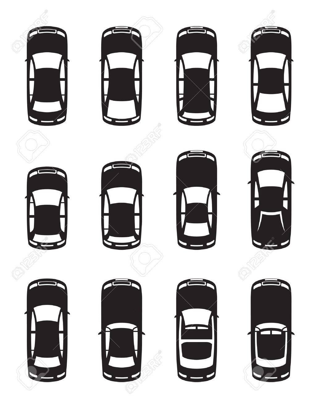 別の車 ベクトル図の上から見たのイラスト素材ベクタ Image 13537056